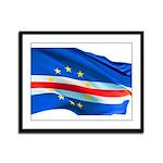 Cape Verde Flag Framed Panel Print