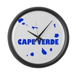 Cape Verde Islands Large Wall Clock