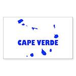 Cape Verde Islands Sticker (Rectangle 10 pk)