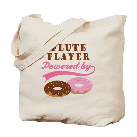 Flute Player Powered By Donuts Tote Bag