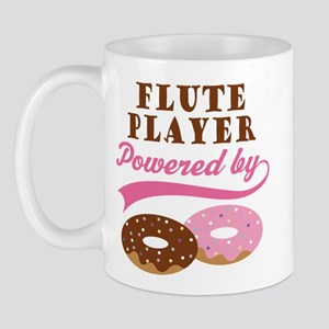 Flute Player Powered By Donuts Mug
