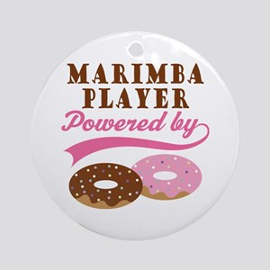 Marimba Player Powered By Donuts Ornament (Round)