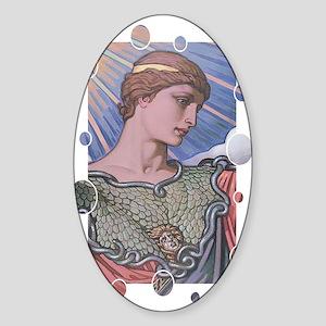 Minerva Oval Sticker