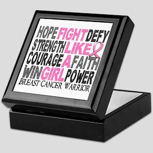 Licensed Fight Like a Girl 23.4 Keepsake Box