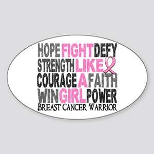 Licensed Fight Like a Girl 23 Sticker (Oval 10 pk)