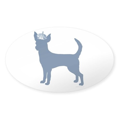 """""""Keep Calm and Obey Your Dog"""" Sticker (Oval)"""