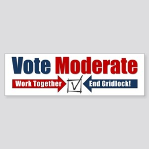 Vote Moderate Sticker (Bumper)