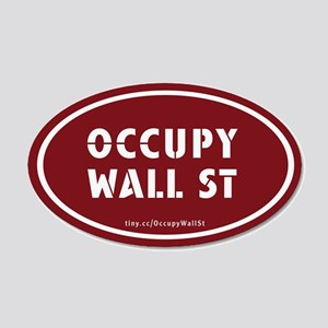 Occupy Wall St Oval Stickers 22x14 Oval Wall Peel
