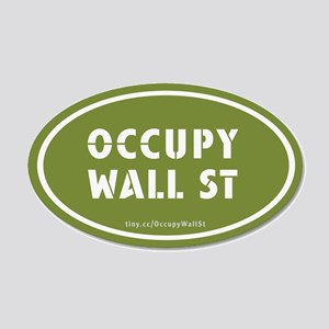 Occupy Wall St Oval Green 22x14 Oval Wall Peel