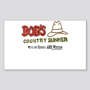 Bob's Country Bunker Rectangle Sticker