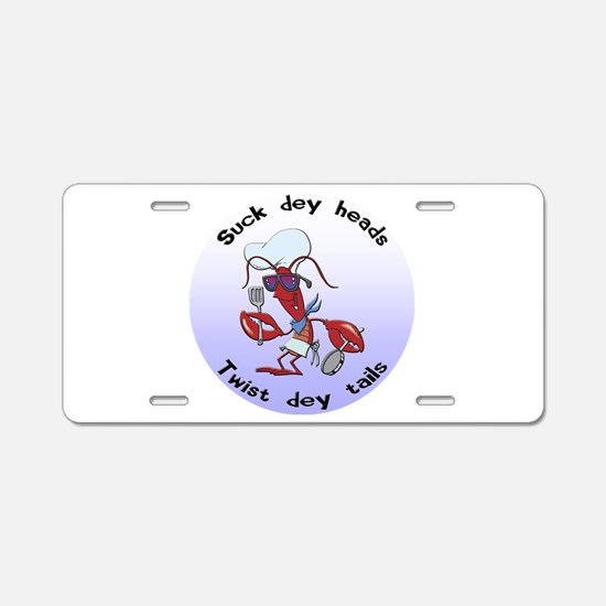 Cajun Crawfish Aluminum License Plate
