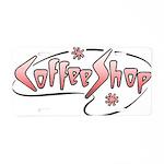 Retro Coffee Shop Aluminum License Plate
