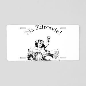 Polish Toast Wine Aluminum License Plate