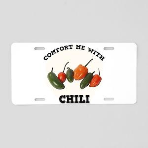 Comfort Chili Aluminum License Plate