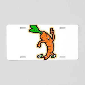 Dancing Carrot Aluminum License Plate