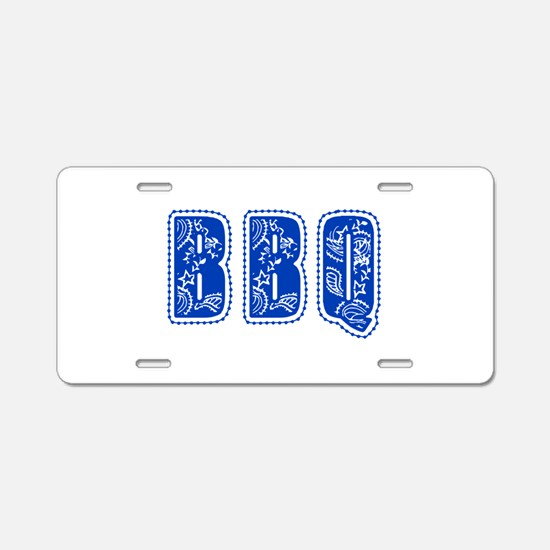 Red White & Blue BBQ Aluminum License Plate