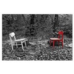 chairs in woods Poster