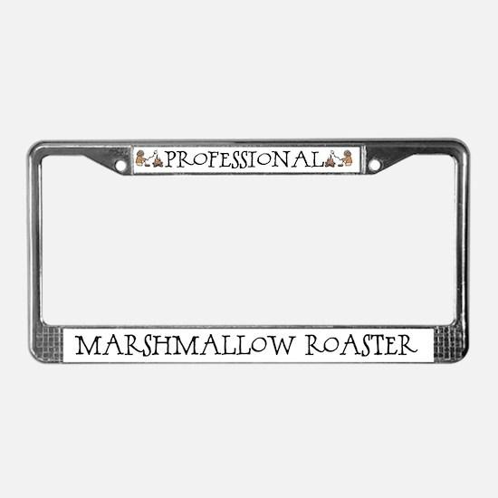 Professional Marshmallow Roaster License Plate Fra