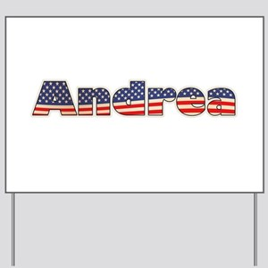 American Andrea Yard Sign