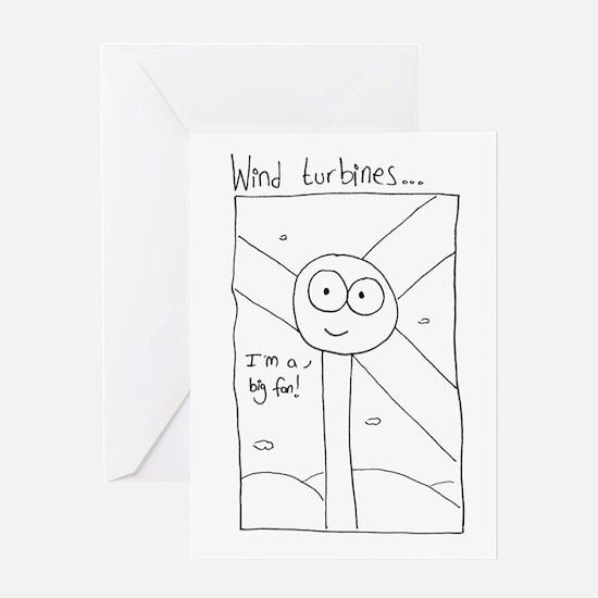 Cute Wind turbine Greeting Card