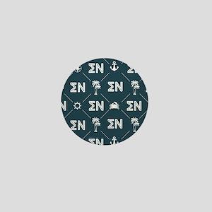 Sigma Nu Fraternity Blue Pattern Mini Button