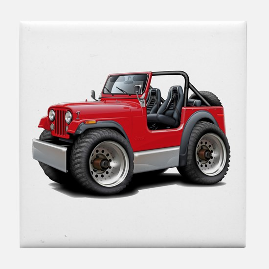 Jeep Red Tile Coaster