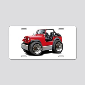 Jeep Red Aluminum License Plate