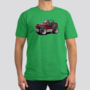 Jeep Maroon Men's Fitted T-Shirt (dark)