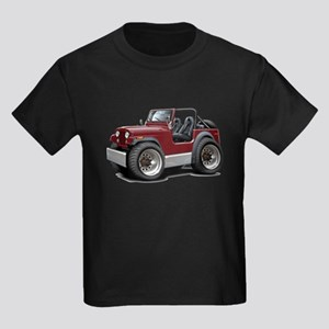 Jeep Maroon Kids Dark T-Shirt