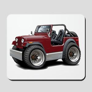 Jeep Maroon Mousepad