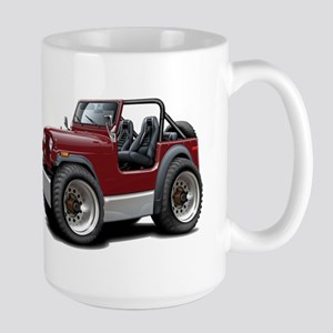 Jeep Maroon Large Mug