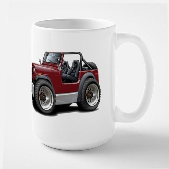 Jeep Maroon Large Mug