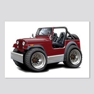 Jeep Maroon Postcards (Package of 8)