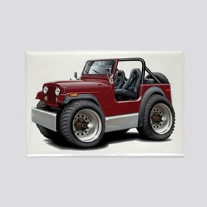 Jeep Maroon Rectangle Magnet