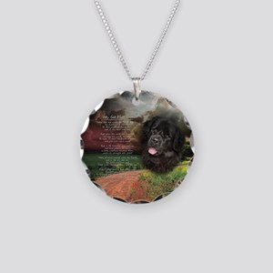 """Why God Made Dogs"" Newfoundland Necklace Circle C"