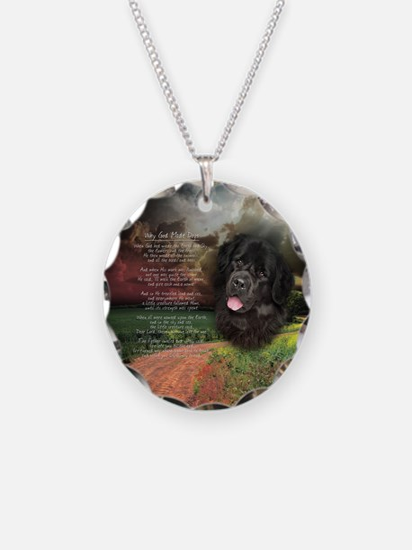 """Why God Made Dogs"" Newfoundland Necklace"