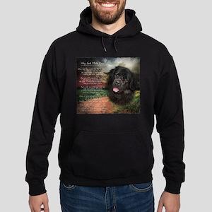 """Why God Made Dogs"" Newfoundland Hoodie (dark)"