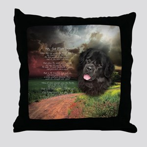 """Why God Made Dogs"" Newfoundland Throw Pillow"
