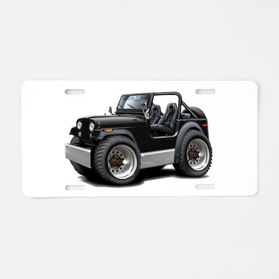 Jeep Black Aluminum License Plate