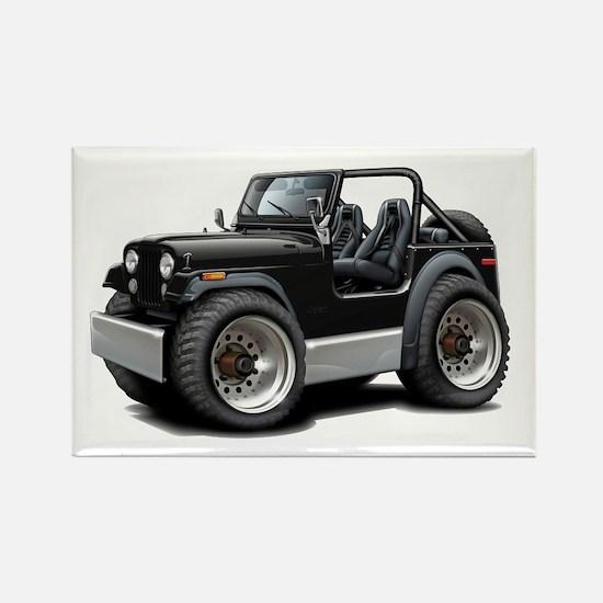 Jeep Black Rectangle Magnet