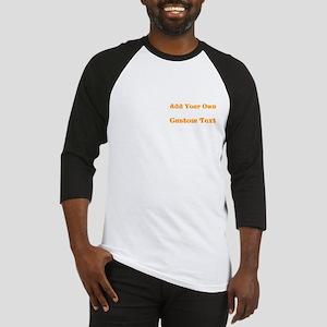 Orange Custom Text Baseball Jersey