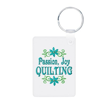 Quilting Joy Aluminum Photo Keychain