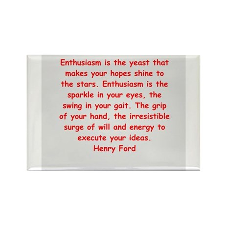 Henry Ford quotes Rectangle Magnet