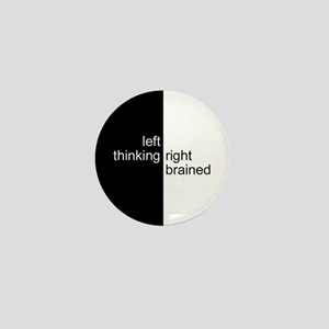 Left-Thinking, Right-Brained Mini Button