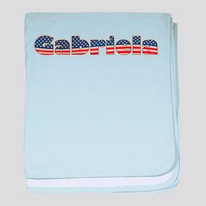 American Gabriela baby blanket