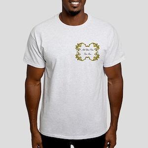 Gold Color Scrolls, Custom Text Light T-Shirt