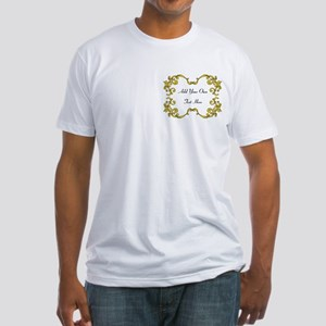 Gold Color Scrolls, Custom Text Fitted T-Shirt