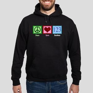 Peace Love Numbers Hoodie (dark)