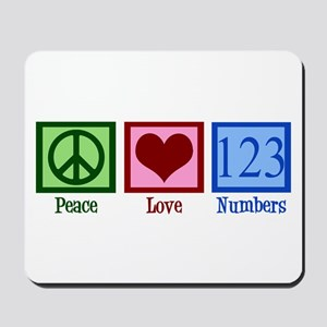 Peace Love Numbers Mousepad