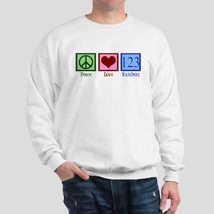 Peace Love Numbers Sweatshirt